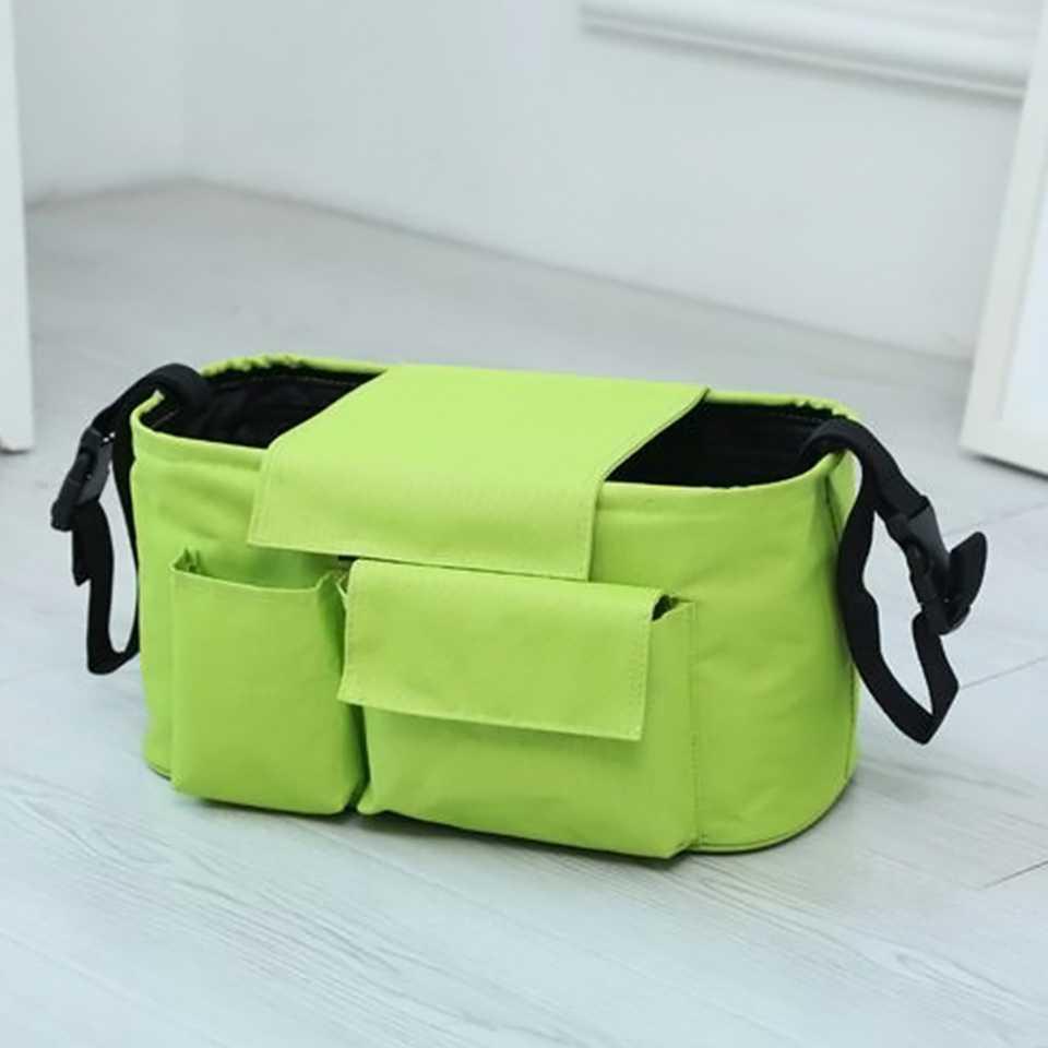 กระเป๋าสำหรับเก็บของสัมภาระติดรถเข็น (สีเขียว)