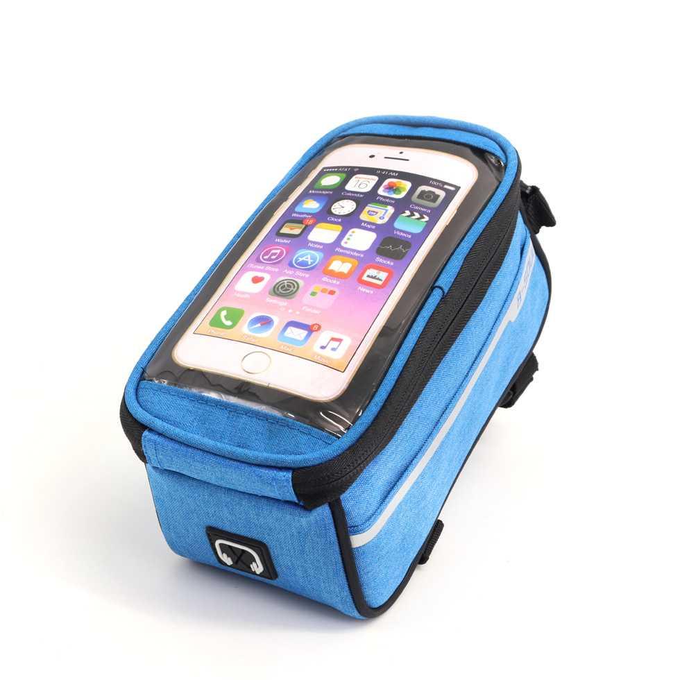 B-SOUL กระเป๋าใส่โทรศัพท์ติดจักรยาน ขนาด 5.5 สีัฟ้า