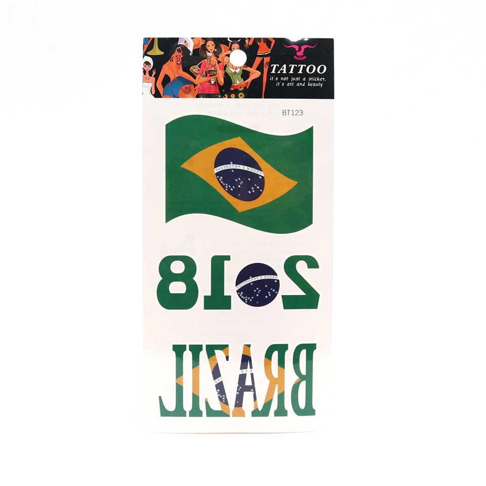 Tattoo แทททูสติกเกอร์ 3D บอลโลก 2018 - บราซิล 2