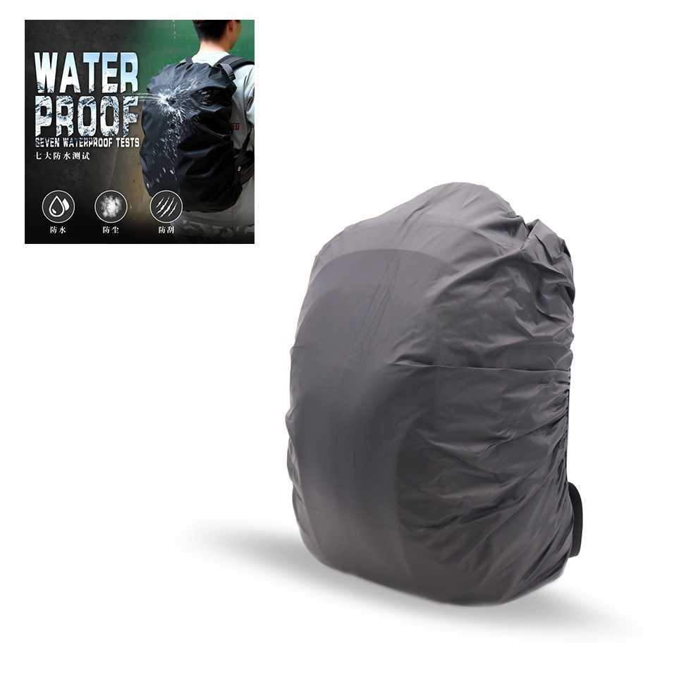 ผ้าคลุมกระเป๋าเป้กันน้ำ ขนาด 60L สีดำ