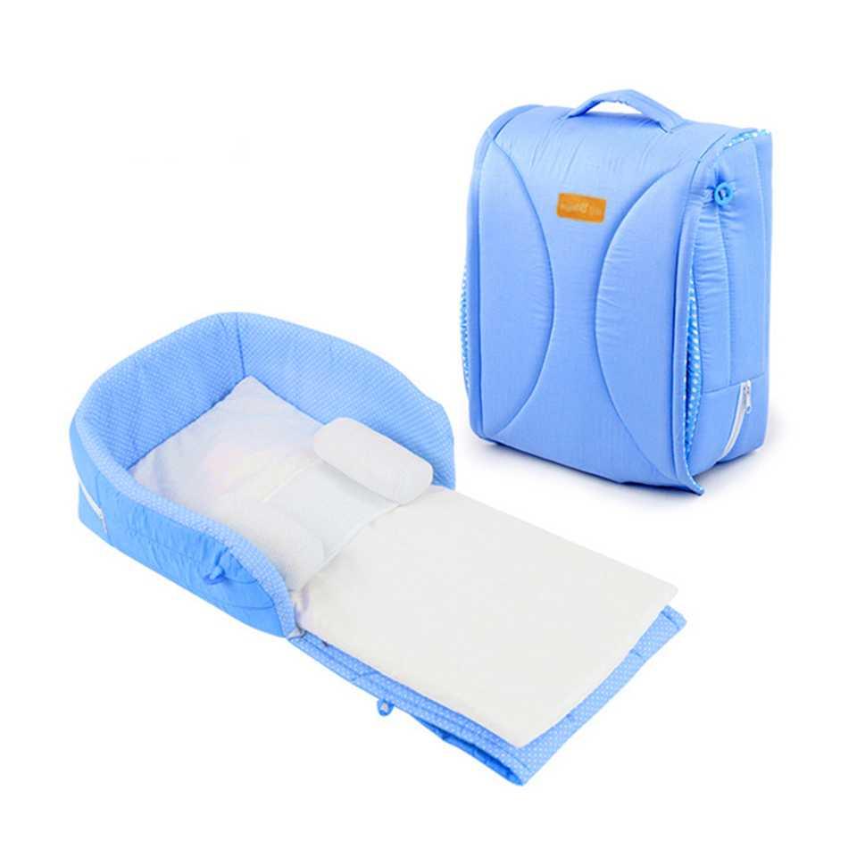 Baby cot ที่นอนเด็กเล็กแบบพกพา สีฟ้า