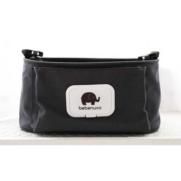 bebewing กระเป๋าจัดระเบียบแขวนรถเข็นเด็ก (สีดำ)