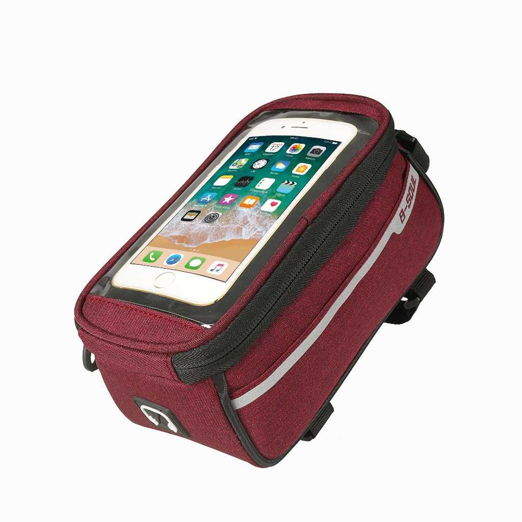 B-SOUL กระเป๋าใส่โทรศัพท์ติดจักรยาน ขนาด 5.5 สีแดง
