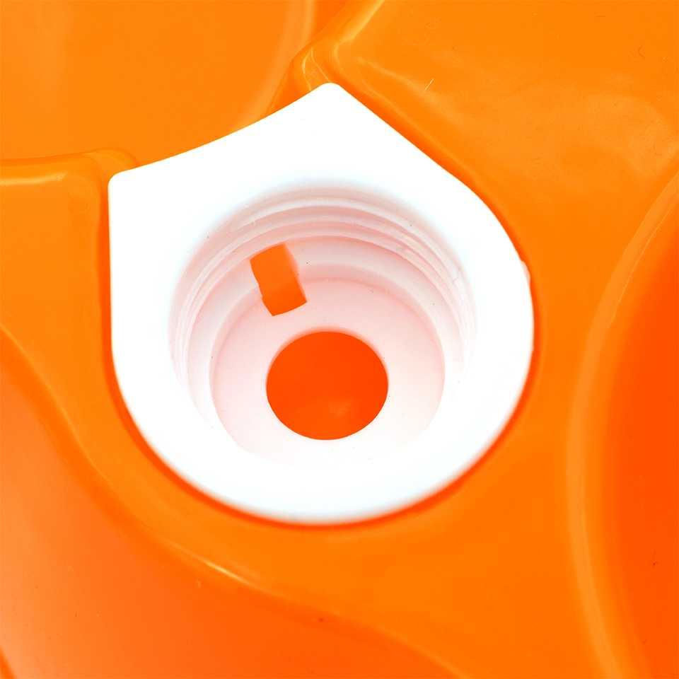 ชามอาหารสัตว์เลี้ยงคู่ แบบใส่ขวดน้ำได้ (สีส้ม) หรือ 11/83-4 สีส้ม ชามอาหารพร้อมที่ใส่น้ำ
