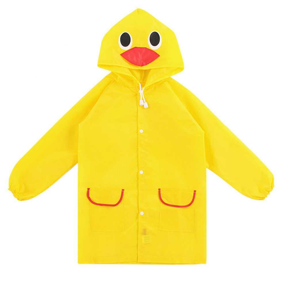 เสื้อกันฝนสำหรับเด็ก ลายเป็ดน้อย สีเหลือง