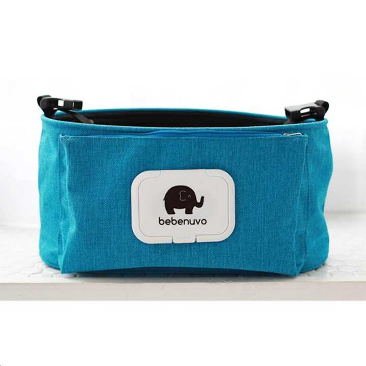 bebewing กระเป๋าจัดระเบียบแขวนรถเข็นเด็ก (สีฟ้า)