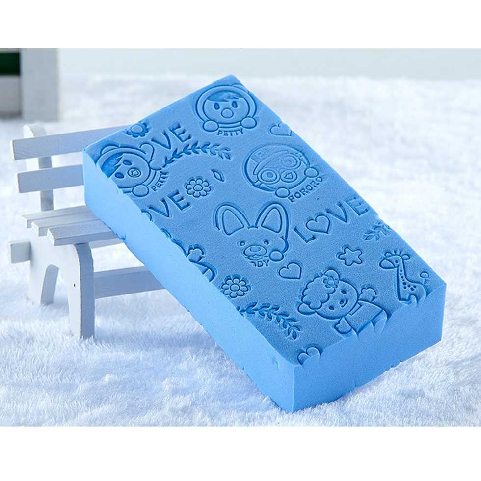 ฟองน้ำสำหรับอาบน้ำเด็ก สีฟ้า