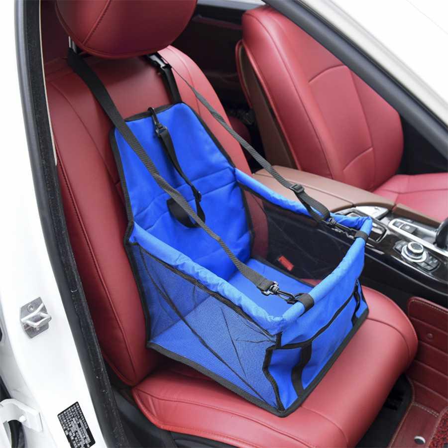 กระเป๋าที่นั่งสัตว์เลี้ยง แขวนเบาะในรถยนต์ สำหรับสุนัขและแมว สีน้ำเงิน