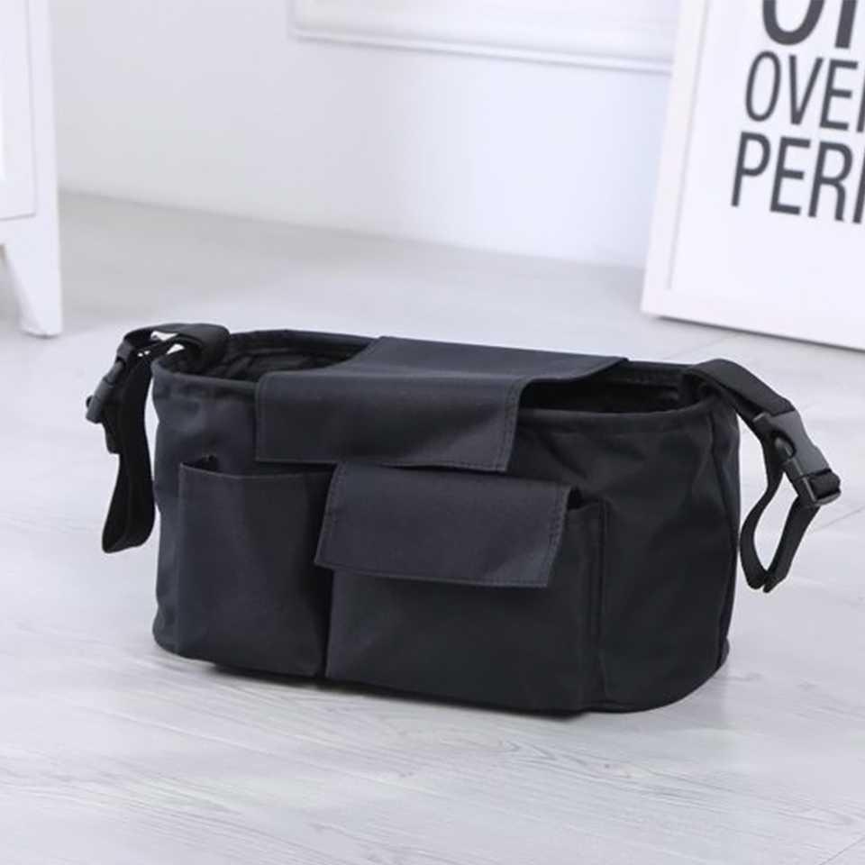 กระเป๋าสำหรับเก็บของสัมภาระติดรถเข็น (สีดำ)