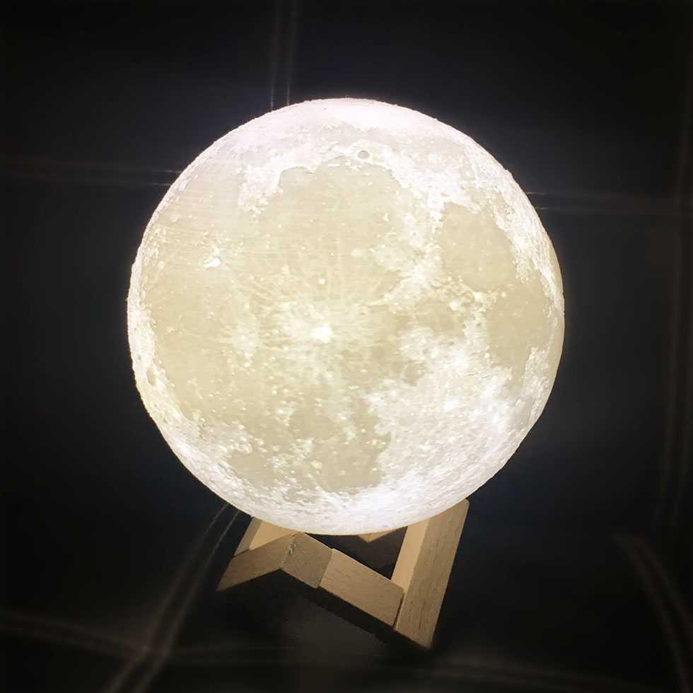 โคมไฟ LED ลายดวงจันทร์ เสมือนจริง
