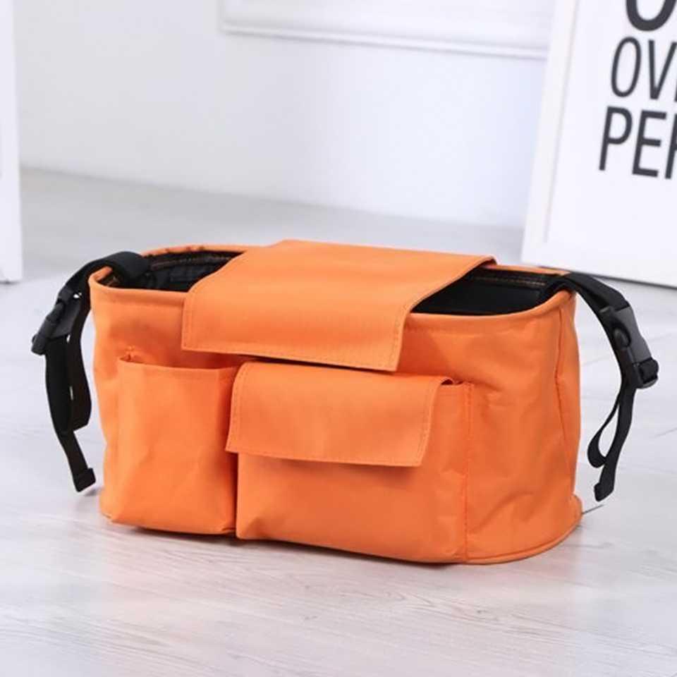 กระเป๋าสำหรับเก็บของสัมภาระติดรถเข็น (สีส้ม)