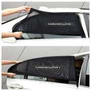 ม่านบังแดดรถยนต์ ม่านตาข่ายบังแดดหน้าต่างรถยนต์เข้ารูป 2 ชิ้น