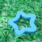 ของเล่นสุนัข ยางกัด ช่วยนวดเหงือกและฟัน รูปดาว (สีฟ้า)